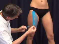 Lymph Taping with CureTape kinesiology tape (Medical Taping Concept) Kinesio taping - a special stretchy tape is applied directly onto the skin. It gently lifts the top layer of skin, allowing the superficial lymph fluid to flow more easily. (Combined with bandaging/and or compression).