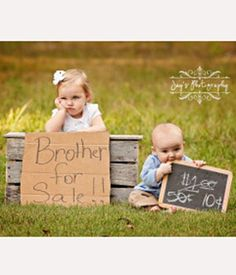 Sibling Photography Idea>>Baby for Sale « Canadian Family