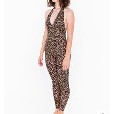 American Apparel leopard jumpsuit I bought this as a Halloween costume this year but it goes perfect underneath a pair of high waisted jeans! This can even be cut into a body suit if you'd like  American Apparel Other