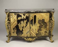 The sumptuous commode that belonged to Horace Walpole joins Gallery 13 at the Legion of Honor in anticipation of the upcoming exhibition Houghton Hall: Portrait of an English Country House. Mounted in Chinese lacquer and embellished with ormolu mounts, this commode was purchased in 1763 by Horace Walpole, the youngest son of Robert Walpole, Britain's first prime minister and the builder of Houghton Hall.