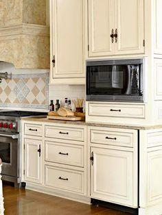 Cabinetry Finishes: Distressed - probably my favorite of the painted styles.