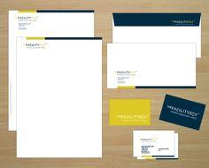 Aplicaciones de papelería corporativa THE FACILITY BOX, Diseño corporativo