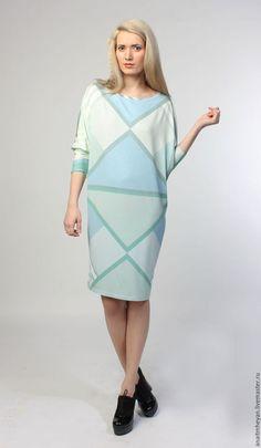 """Geometric dress / Платья ручной работы. Ярмарка Мастеров - ручная работа. Купить Платье """"MIRACLE"""". Handmade. Мятный, платье летнее, лайкра 5%"""