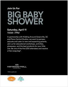 Big Baby Shower at Haywood mall #kiddingaroundgreenville #yeahTHATgreenville #babyshower #haywoodmall