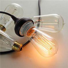 60 Watt Vintage Edison A Light Bulb Clear Filament Incandescent Light Bulb Vintage Edison bulb. 60 watts. Medium Base. 500 Lumens.  Product ...
