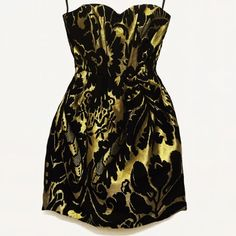 Spotted while shopping on Poshmark: H&M Gold + Black Floral Tapestry Babydoll Dress! #poshmark #fashion #shopping #style #H&M #Dresses & Skirts