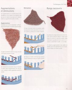 Augmentations et diminutions pour bonnet tricotin rond: Spool Knitting, Loom Knitting Patterns, Crochet Patterns, Weaving Loom Diy, Loom Craft, Knit Crochet, Crochet Hats, Creation Crafts, Couture Sewing