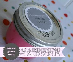 DIY Gardening Hand Scrub | If you dig around in the dirt, then you know how hard it is to get it out of your fingernails! This scrub is great for cleaning up both your hands and feet! See more DIY ideas on TodaysCreativeLife.com