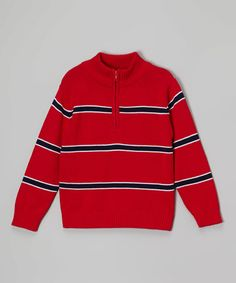 Another great find on #zulily! Red & Navy Pullover - Toddler & Boys #zulilyfinds