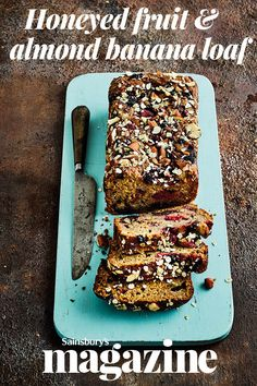 This tasty fruit and nut-packed loaf is lower in sugar than a typical banana cake. Try a slice for breakfast Loaf Recipes, Banana Bread Recipes, Cupcake Recipes, Dessert Recipes, Breakfast Recipes, Salty Cake, Dessert Bread, No Bake Desserts, Sweet Recipes