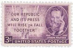 1947 3c Joseph Pulitzer - Catalog # 946 For Sale at Mystic Stamp Company
