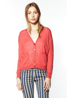Cardigan Mojito rose Claudie Pierlot