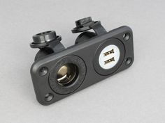 Caravan Camper Motorhome 12v Twin USB Socket with connection lead Black