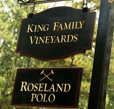 Welcome to King Family Vineyards and Roseland Polo between Skyline Drive and Charlottesville