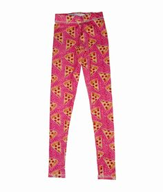 Girls Pizza Printed Leggings