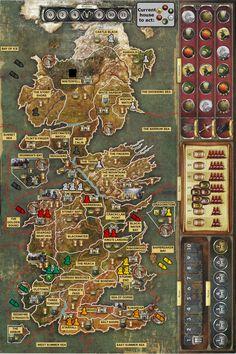 """Planszówka w świecie Westeros i Essos. Wykorzystując rosnącą popularność gier planszowych, Fantasy Flight Games wydało w 2003 roku grę inspirowaną """"Grą o Tron"""" (w Polsce wydało ją wydawnictwo Galakta). Rozgrywka wymaga umiejętności strategicznych, myślenia długodystansowego i... cierpliwości, gdyż rozegranie jednej partii może trwać nawet pięć godzin! Warto jednak wygospodarować tyle czasu, ponieważ rozrywka jest rewelacyjna! #gadżety #gra #planszowa #planszówka ##gra ##o ##tron"""