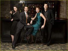 Megan Mullally, Eric McCormack, Debra Messing, Sean Hayes ~ Will & Grace ~ Publicity Photos ~ Season 8, Finale