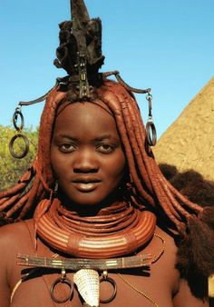 Young woman from the Himba tribe.