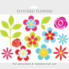 Flower clipart floral clip art floral by WinchesterLambourne
