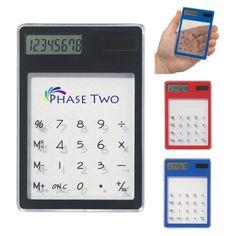 #1673 Clear Solar Calculator - $2.69/ea (1 Color Imprint)