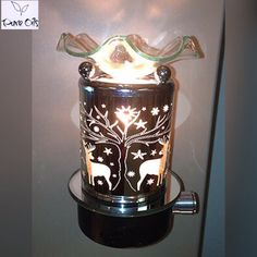 Electric Plug In Oil Warmer Night Light Deer in Woods Design With Dimmer Switch ** Be sure to check out this awesome product. (This is an affiliate link and I receive a commission for the sales) Lavender Essential Oil Benefits, Patchouli Essential Oil, Lemongrass Essential Oil, Orange Essential Oil, Oil Image, Decorative Night Lights, Oil Warmer, Pure Oils, Oil Lamps