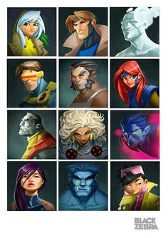 The X-Men by Blackzebra Studio