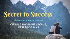 Secret to Success: Choose the Right Spouse, According to Research – Books for Greatness Choose The Right, Secret To Success, Research, Self Help, How To Become, Study, Sayings, Learning, Books