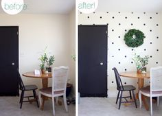 Ruffles And Stuff: DIY Polka Dot Wall!
