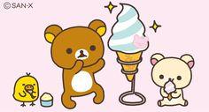 きょう5月9日は、アイスクリームの日!  リラックマのアイスクリーム大きいね✨  #アイスクリームの日