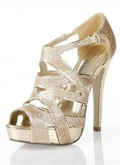 Shoes - High Heel Glitter Sandal from Camille La Vie and Group USA ...
