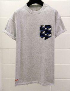 63955d8d371d3 Men s Swan Pattern Grey Pocket TShirt Men s T by HeartLabelTees   MensT-shirts
