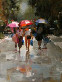 Original artwork from artist Qiang Huang on the Daily Painters Gallery Oil Painting Supplies, Oil Painting Techniques, Painting People, Figure Painting, Impressionist Paintings, Landscape Paintings, Daily Painters, Beautiful Paintings, Figurative Art