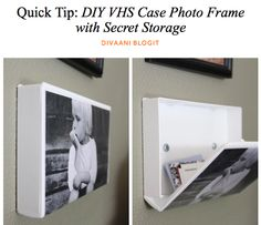 Picture frame with hidden storage