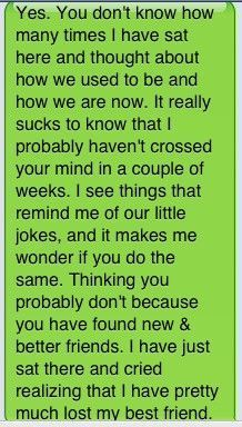 I know it's sad but it totally is the truth and I'm going to text this to my bff and see how she responds. Losing Best Friend Quotes, Best Friend Quotes For Guys, Losing Your Best Friend, Miss My Best Friend, Missing Your Ex Quotes, Friends Leaving Quotes, I Lost A Friend, Sad Friendship Quotes, Bff Quotes