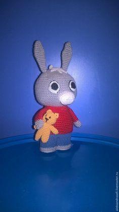 Купить Ослик Тротро и мишка Тедди - серый, тротро, ослик, ослик тротро, серый ослик