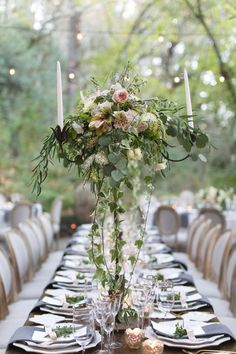 Wedding reception centerpiece idea; Featured Photographer: Jessica Claire Photography, Featured Planner A Savvy Event