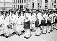 Malay regiment and Malay sailor at sir Henry Gurney Funeral Parade at Merdeka Square, Kuala Lumpur Tunku Abdul Rahman, Malayan Emergency, Navy Sailor, Kuala Lumpur, Military Uniforms, Sailors, History, Funeral, Digital