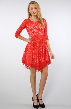 FREE PEOPLE  The Floral Mesh Lace Dress