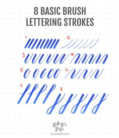 Intro to Brush Lettering: Basic Strokes
