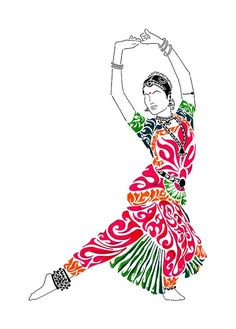 Bharatanatyam Painting - Grace by Anushree Santhosh