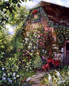 Susan Rios, Christmas cottage.