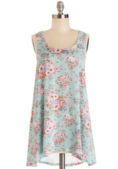 Flowers for You Tunic. Like a fresh bouquet, you arrive at the cafe to meet your friends, who admire how sweet you look in this mint tunic. #mint #modcloth