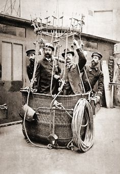 Preparing a balloon flight, France, ca 1900 (Photographer unkown)