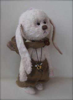 """Зайка""""Хочу быть мишкой"""" - зайка,оригинальный подарок,авторская игрушка"""