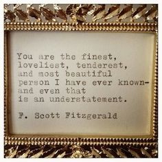 F. Scott Fitzgerald <3