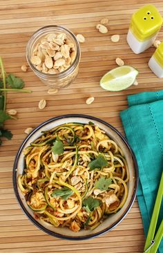 Vegetarian Zucchini Noodle Pad Thai (fast, filling, and delicious)