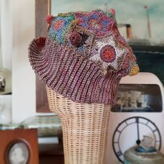 """The Crochet Kind's Instagram profile post: """"Wednesday again- hello all 🌈 are you finding time is a strange beast these days too?  . Well, here's a very idiosyncratic hat i made out of…"""" Strange Beasts, Making Out, Wednesday, Captain Hat, Profile, Crochet, Hats, Instagram, Fashion"""