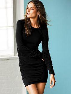 Ruched Cotton Sweaterdress #VictoriasSecret http://www.victoriassecret.com/clothing/sweaterdresses/ruched-cotton-sweaterdress?ProductID=2317=OLS?cm_mmc=pinterest-_-product-_-x-_-x