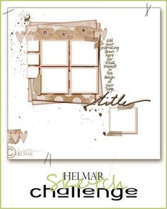 SIMPLY PAPER: Helmar sketch contest!