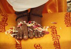 "Sri Amritananda Mayi Ma ""Ammachi"" feet"